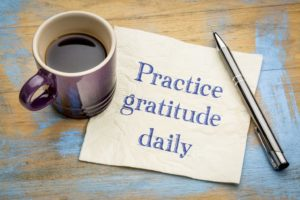 Practice gratitude daily napkin