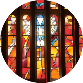 stained glass image circular