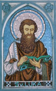 Saint Luke Stained glass color